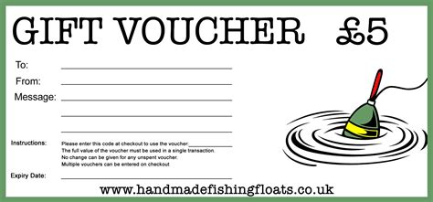 discount voucher brackets uk fishing presents for anglers gift vouchers for handmade