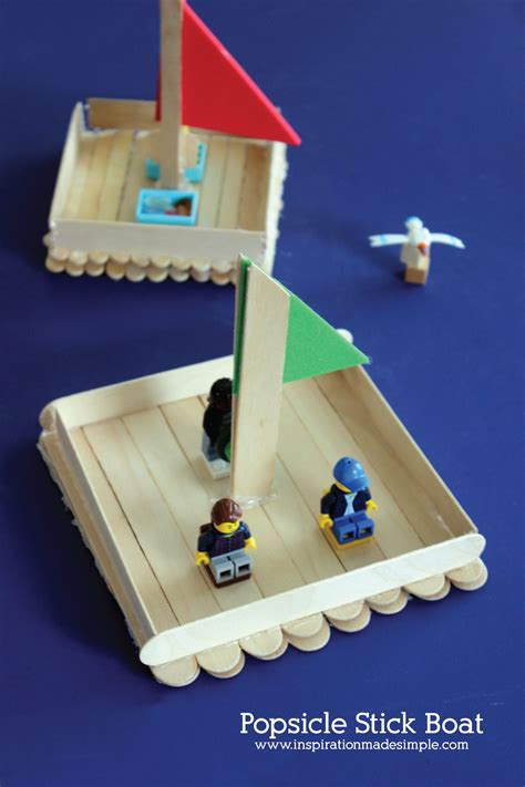 how to make a boat using craft sticks popsicle stick boat kids craft inspiration made simple