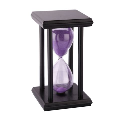 new arrival creative household items cartoon hourglass new arrival purple colors creative 30mins wooden sand