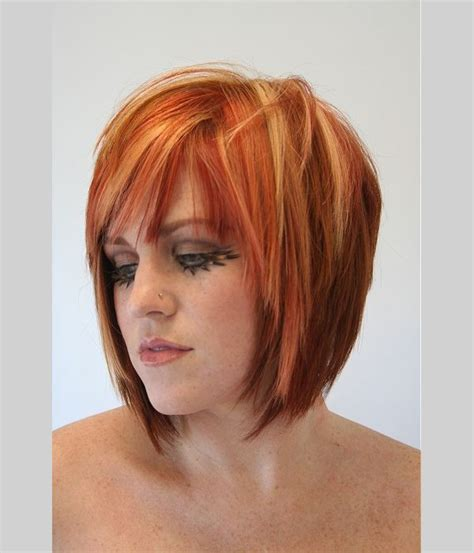 pink highlights hair older women love the orange red with suttle blonde highlights pin