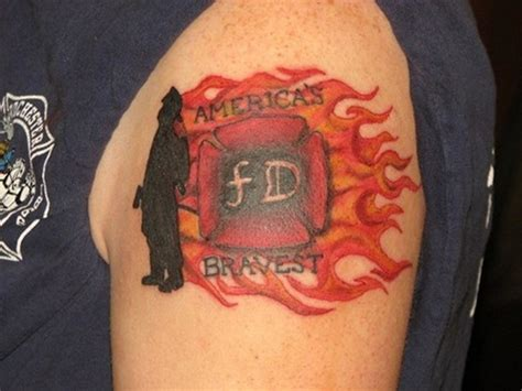 firefighter cross tattoos maltese cross firefighter on shoulder