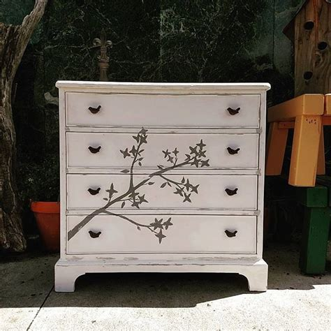 vintage hand painted chest of drawers painted dresser hand painted vintage chest of drawers
