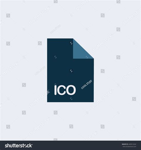Ico Icon Ico File Iconextension Icon Stock Vector 449912242 Shutterstock Ico White Paper Template