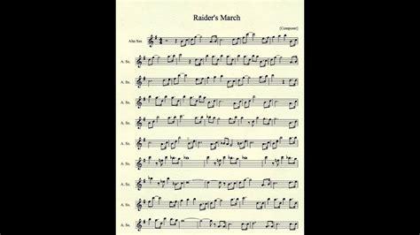 raiders march  alto sax youtube
