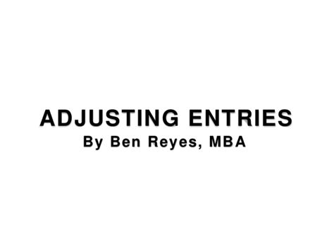 Mba Financial Accounting Primer Se Libby by Introduction To Adjust Entries