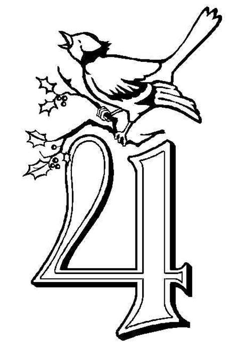christmas birds coloring pages 16 best 12 days of christmas 4 calling birds images