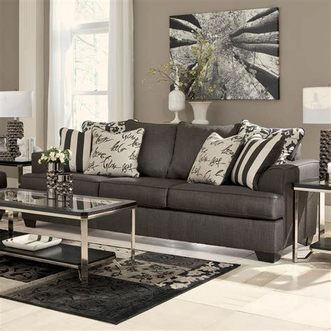 levon charcoal sofa signature design by ashley levon sofa charcoal