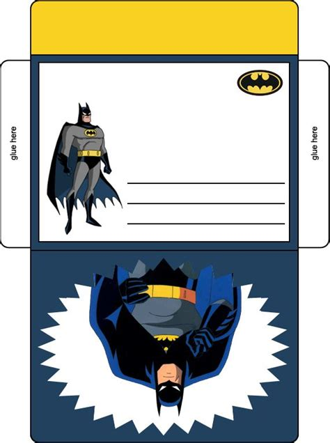 printable birthday cards superhero batman birthday party envelope in color batman birthday