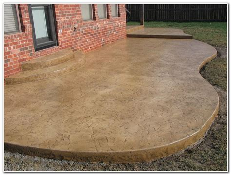 Stained Concrete Patio Ideas Home Design Ideas And Pictures Concrete Patio Stain Ideas