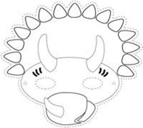 dinosaur mask coloring page dinosaur mask triceratops proyecto dinosaurios