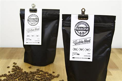 coffee shop packaging design packaging terrone co coffee by apple and pear ams