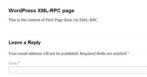xml rpc tutorial php xml rpc in wordpress