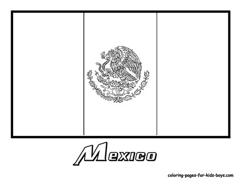 Mexican Flag Color Page mexico flag coloring pages around the