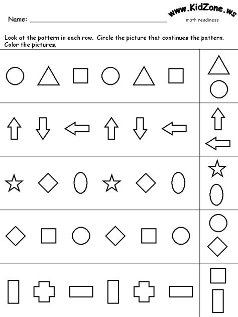 abc pattern for kindergarten kindergarten pattern math stations pinterest