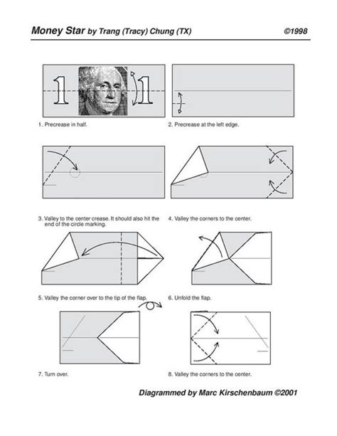 Dollar Origami Diagrams - gifts origami and dollar bill origami on