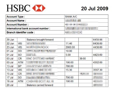 bank statement template mattsbits saving hsbc bank statements to html and csv