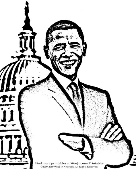 obama coloring page for kids az coloring pages