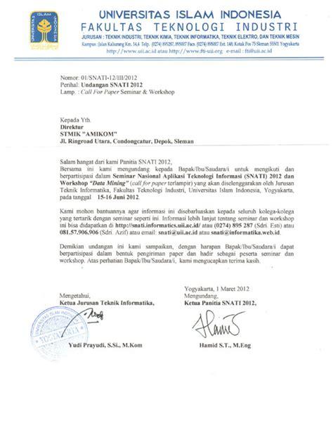 undangan seminar nasional untuk seluruh dosen stmik amikom