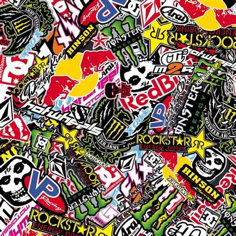 Monster Energy Sticker Wallpapers by Sticker Bombing Sticker Bomb Monster Energy Redbull Rockstar