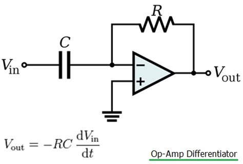 circuit diagram of integrator and differentiator using op difference between integrator vs differentiator op