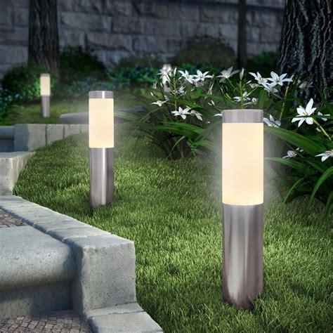 luz jardin luz de jardim em inox c espelho solar e luz de led 2