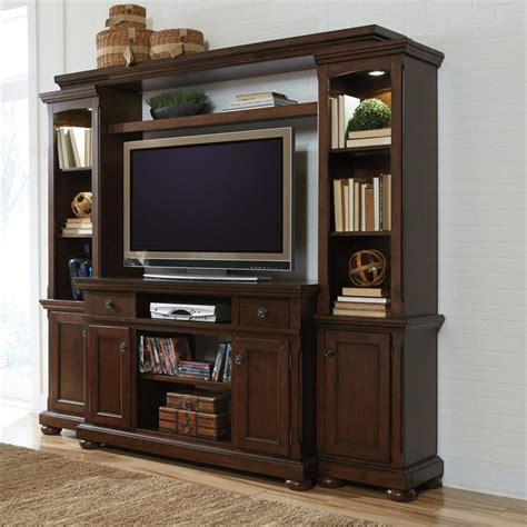 furniture porter 86 quot entertainment center in rustic