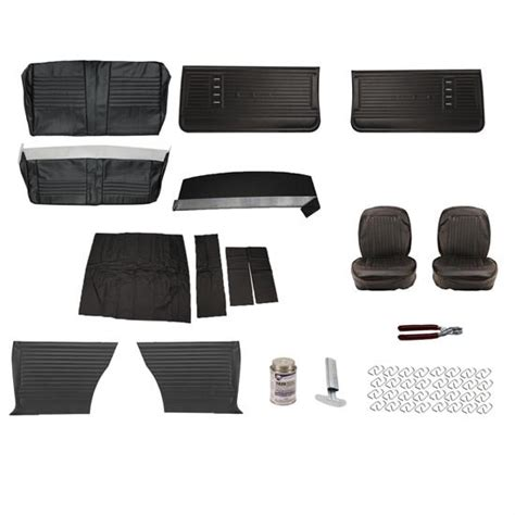complete upholstery complete interior upholstery kit 1966 chevelle black