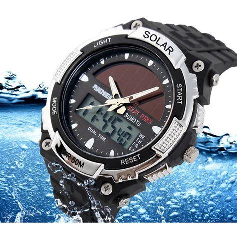Murah Jam Tangan Pria Skmei Solar Sport Led Water Resist 50m Dg1126 skmei jam tangan solar digital analog pria ad1049e jakartanotebook