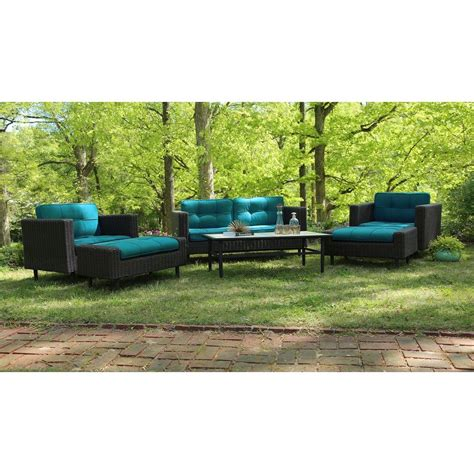 all weather wicker deep seating cushion outdoor recliner ae outdoor wright 6 piece all weather wicker patio deep