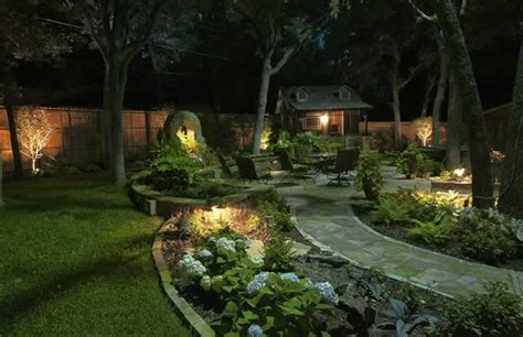 landscape lighting repair installation design fort worth tx