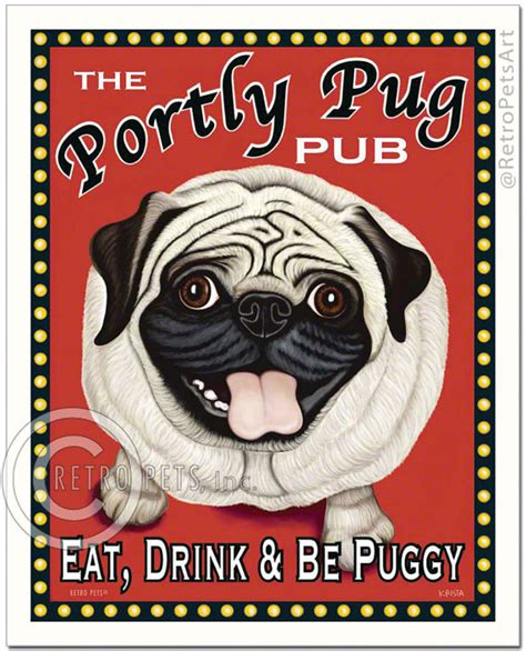what do pugs eat and drink 8x10 pug portly pug pub eat drink be