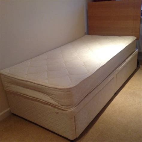 Single Divan Bed With Drawers by Single Divan Bed With Storage Drawers And Headboard For