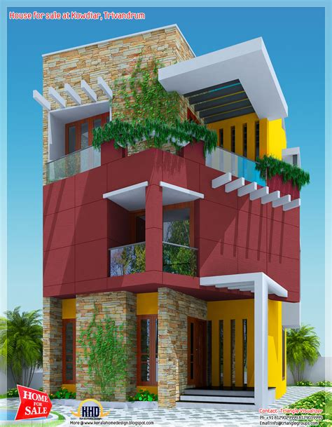 Architectural Plans For Sale by 3 Floor House For Sale At Kowdiar Trivandrum Kerala