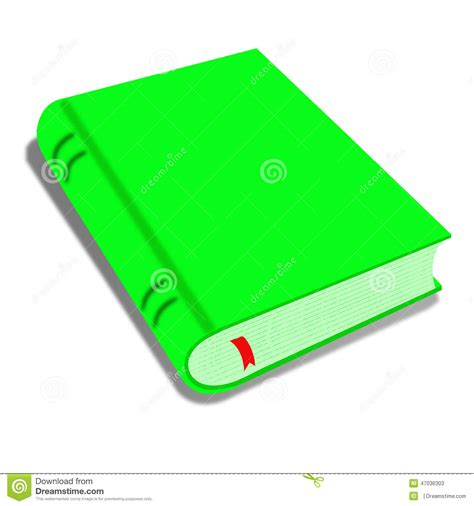 the in green books green book isolated on white illustration of a
