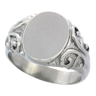 Fc Sabrina Baby Shoes sabrina silver stainless steel medium signet ring solid