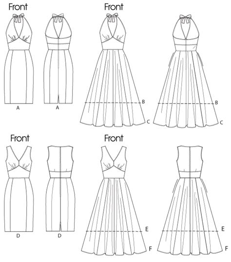 drawing a pattern for dress vogue patterns 8727 misses dress vogue easy options