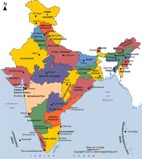 indian states general awareness list of indian states capitals and