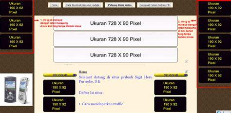 membuat iklan melayang di sing blog cara membuat iklan melayang di sisi kanan dan kiri blog
