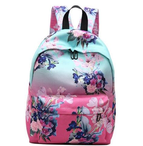 Canvas Flower Rucksack dip dye flower backpack for canvas 15 in