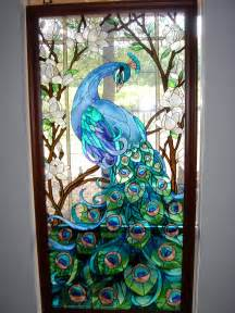 peacock stained glass door gt gt i m pretty sure i wouldn t