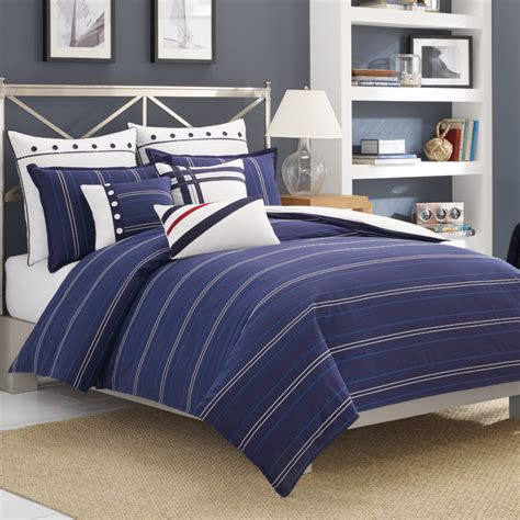 nautica navy blue comforter red white and blue 4th of july beddingstyle com blog post