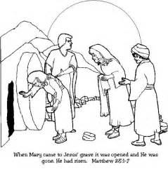 coloring pages for resurrection of jesus jesus resurrection in matthew coloring page netart