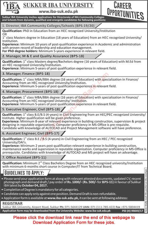 Iba Mba Program Office by Sukkur Iba September 2017 Application Form