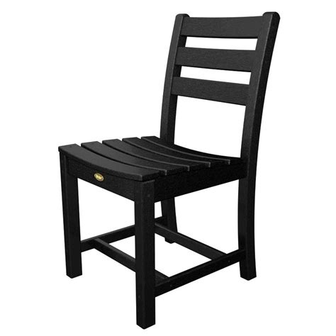 Black Patio Chair Trex Outdoor Furniture Monterey Bay Charcoal Black Patio Dining Side Chair Txd100cb The Home Depot