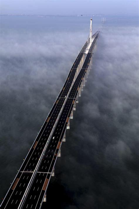 qingdao bridge jagansnews exclusive photos china opens world s longest
