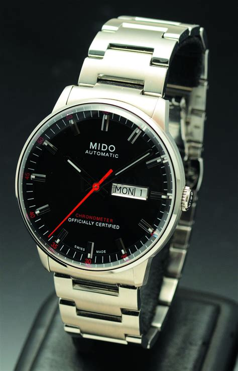 Mido M0144301103100 Commander Ii mido 40mm ref m021431105100 quot commander ii quot automatic day date chronometer in steel passions