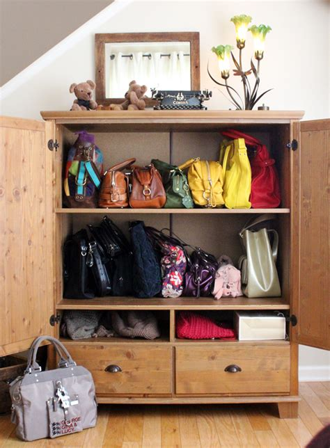 Purse Storage Cabinet by The Best Design Of Handbag Storage For You Homesfeed