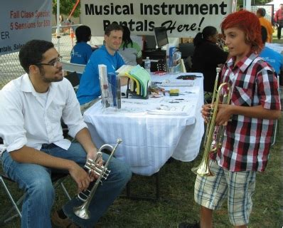 open house instrument petting zoo for home school students