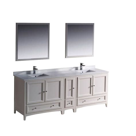84 bathroom vanities and cabinets fresca oxford 84 in double vanity in antique white with