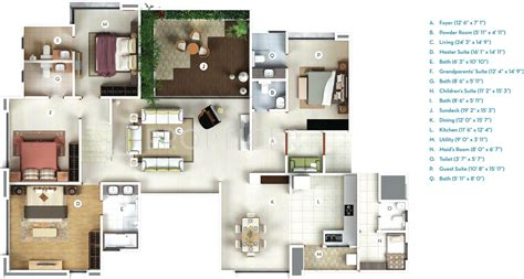 high rise floor plans 3100 sq ft 4 bhk 4t apartment for sale in gera